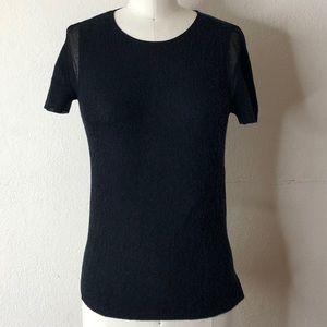 Eileen Fisher blue knit fall top XS